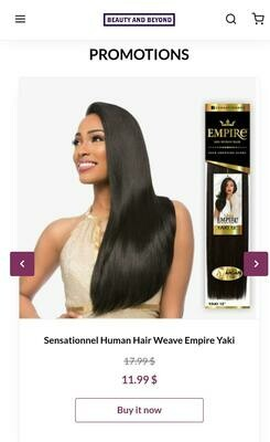 Sensationnel Human Hair Weave Empire Yaki