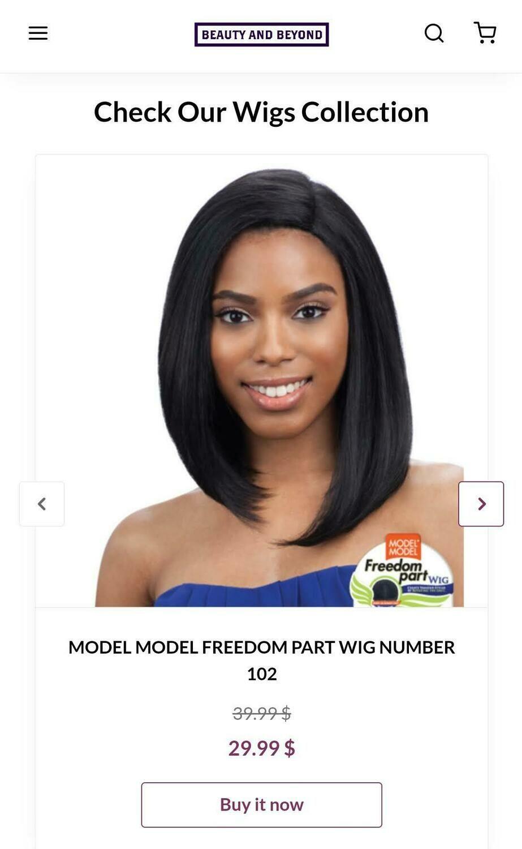 Model Model Freedom Part Wig- Number 102