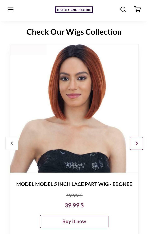 Model Model 5 inch Lace Part Wig- Ebonee