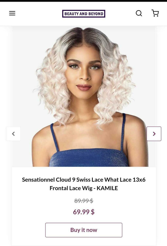 Sensational Cloud 9 Swiss Lace What lace 13x6 Frontal Lace- KAMILE