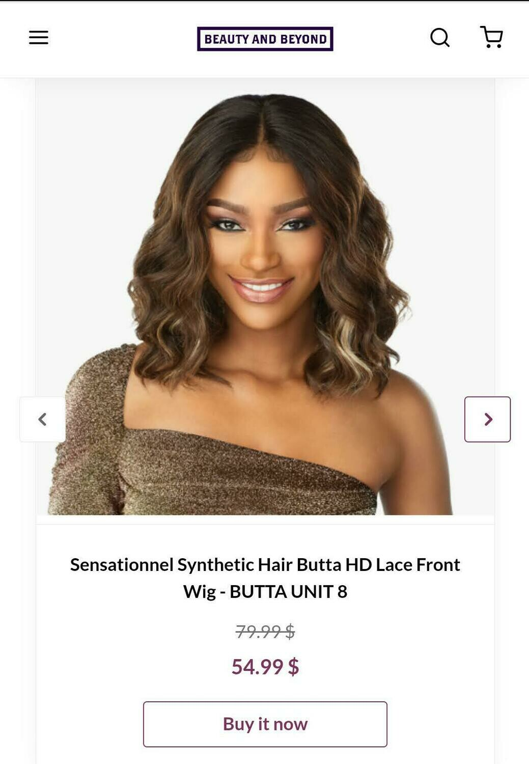 Sensational Synthetic Hair Butta HD Lace Front Wig- BUTTA UNIT 8