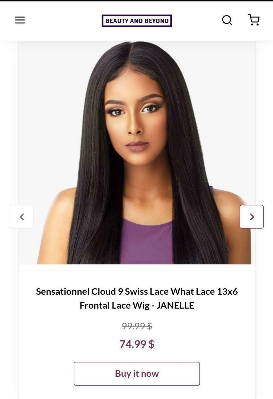 Sensational Cloud 9 Swiss Lace What Lace 13x6 Frontal Lace Wig- JANELLE