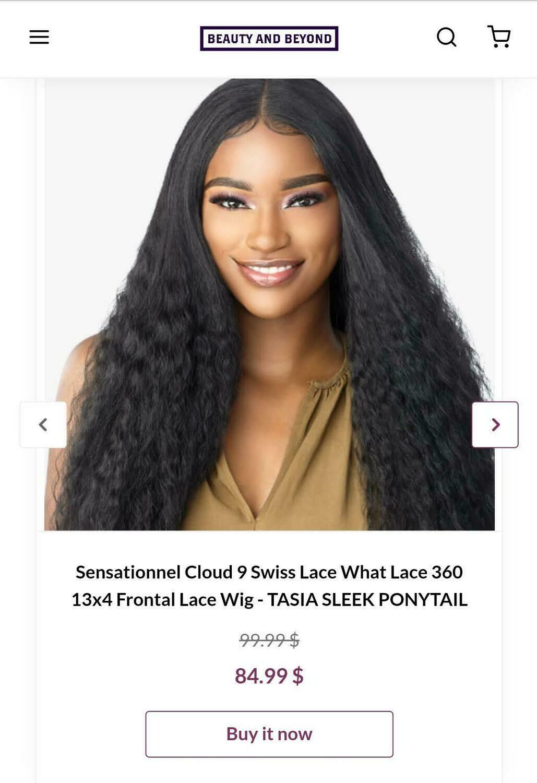 Sensational Cloud 9 Swiss Lace What Lace 360 13x4 Frontal Lace Wig- TASIA SLEEK PONYTAIL