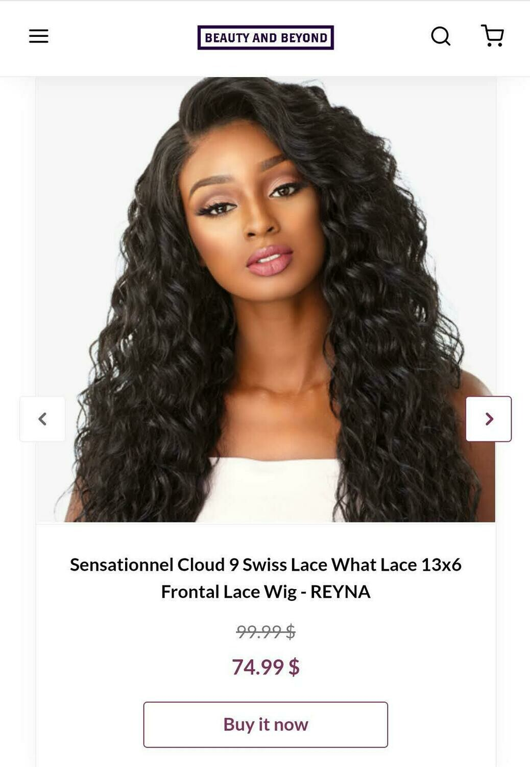 Sensational Cloud 9 Swiss Lace What Lace  13x6 Frontal Lace Wig- REYNA