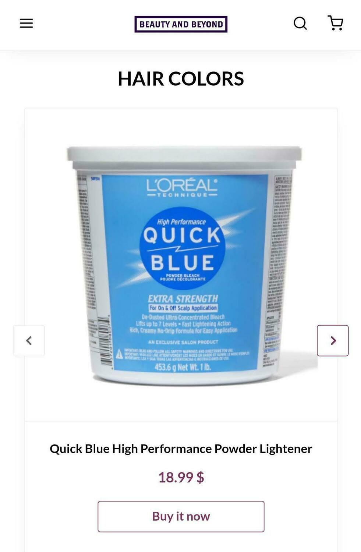 Quick Blue Performance Powder Lightener