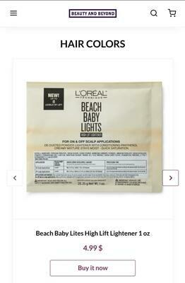 Beach Baby Lites High Lift Lightener 1 oz
