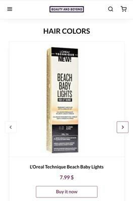 L'OREAL Technique Beach Baby Lights