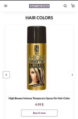 High Beams Intense Temporary Spray On Hair Color