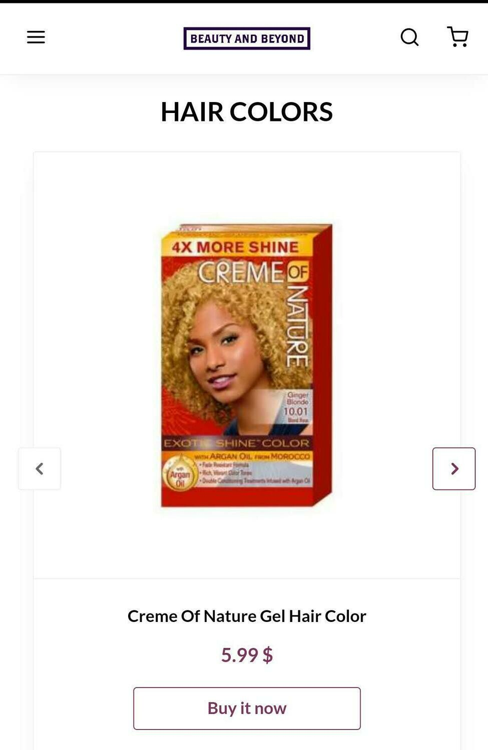 Creme Of Nature Gel Hair Color