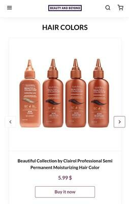 Beautiful Collection by Clairol Professional Semi Permanent Moisturizing Hair Color