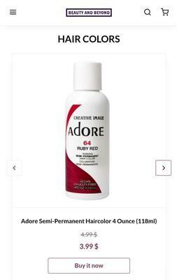 Adore Semi-Permanent Hair Color( 4oz, 118ml)