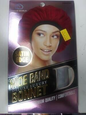 Dream World Satin Edge Wide Band Luxury Bonnet