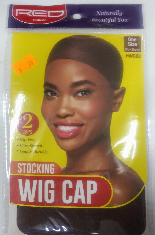 RED Stocking Wig Cap