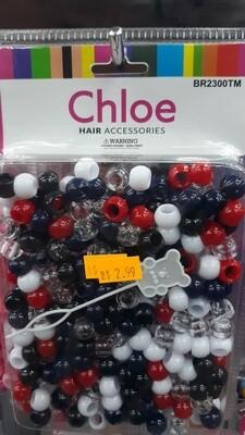 Chloe Beads (Black,blue,clear,white,red)