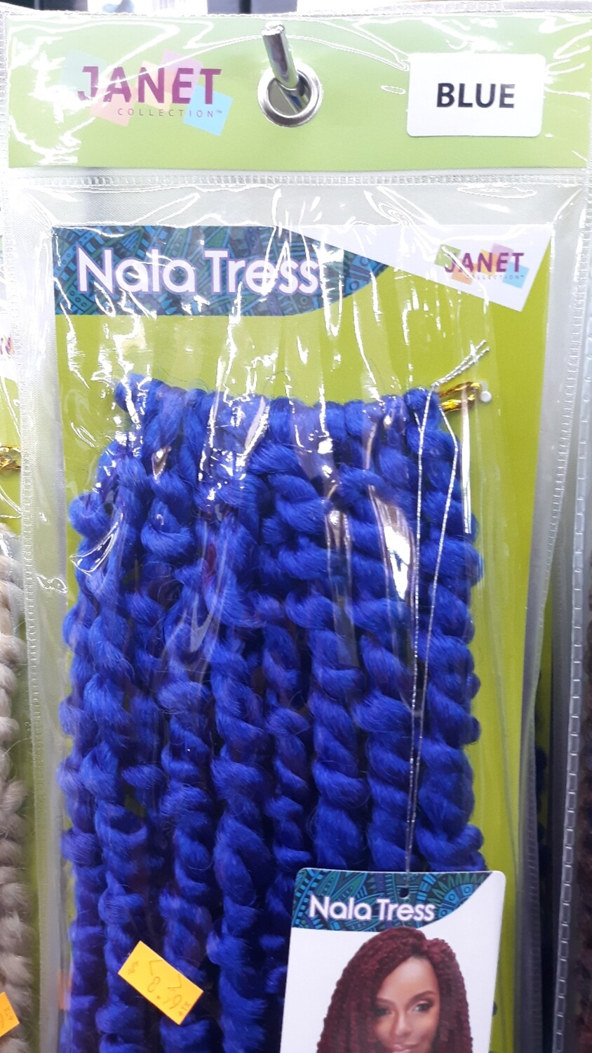 """Janet Collection 2x Senegal Curly Finish 14"""" (BLUE)"""