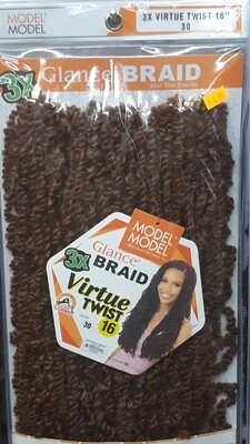 """Glance Braid Pre-Stretched Water Wave 16"""" (30)"""