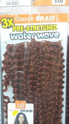 """Glance Braid Pre-Stretched Water Wave 18"""" (350)"""