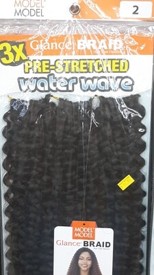 """Glance Braid Pre-Stretched Water Wave 18"""" (2)"""