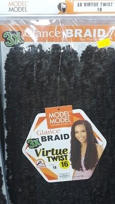 """Glance Braid Virtue Twist 16"""" (1B)"""