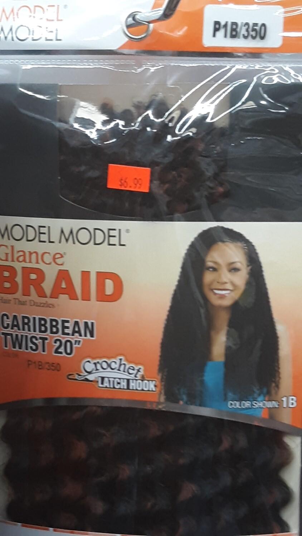 "Glance Braid Caribbean Twist 20"" (P1B/350)"