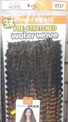 "Glance Braid Pre-Stretched Water Wave 16"" (OT27)"