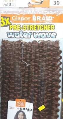 """Glance Braid Pre-Stretched Water Wave 18"""" (30)"""