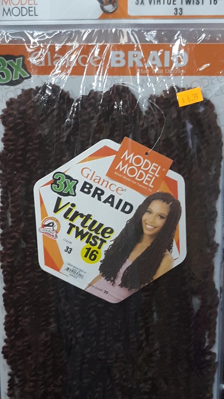 "Glance Braid Virtue Twist 16"" (33)"