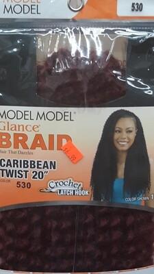 """Glance Braid Caribbean Twist 20"""" (530)"""