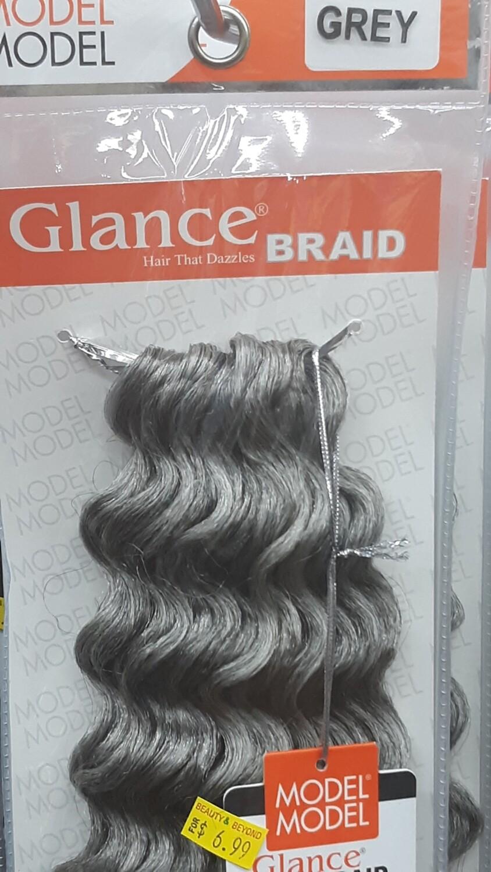 "Glance Braid Beach Hair 16"" (Grey)"