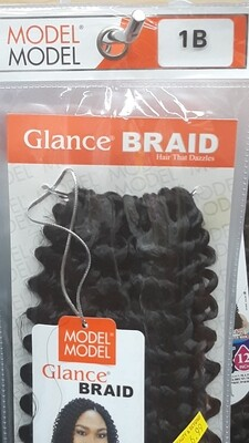 """Glance Braid Beach Hair 16"""" (1B)"""