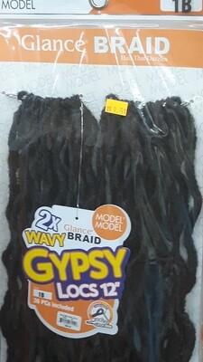 """Glance Braid Wavy Gypsy Locs 12"""" (12)"""
