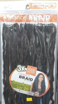 "Glance Braid Jamaican Locs 20"" (4)"