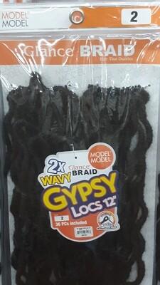 """Glance Braid Wavy Gypsy Locs 12"""" (2)"""