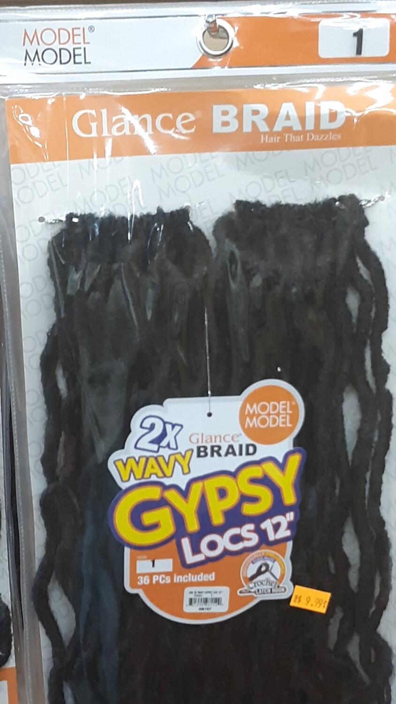 """Glance Braid Wavy Gypsy Locs 12"""" (1)"""
