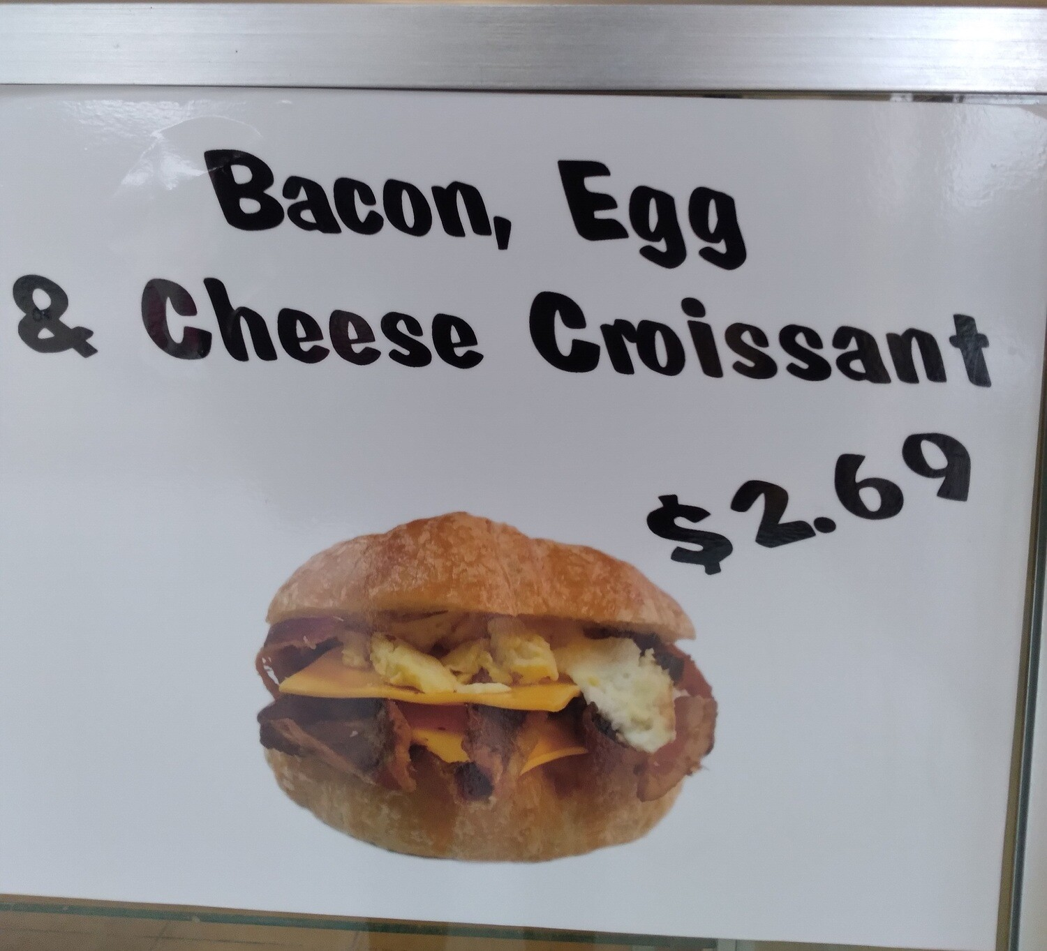Back, Egg, Cheese Croissant