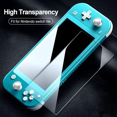 Nintendo Switch lite Bildschirmschutzfolie 2 in 1 Displayschutz vor Kratzern, Stürzen und Öl- Flecken, Extrem Dünn mit Härtegrad 9H sowie 99,99% Transparent, Einfaches anbringen ohne Bläschen
