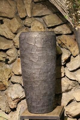Großgefäß Vase broken graphit 75 cm hoch