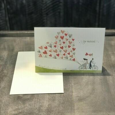 """Karte """"Tandem Hochzeit"""