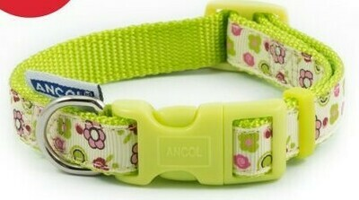 LIME FLOWERS COLLAR 20-30CM SIZE 1-2