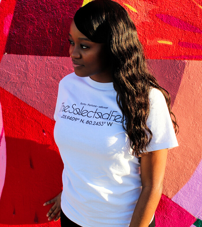 Fortune Favours the Bold White Logo Tee