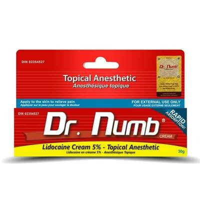Dr. Numb 5% Lidocaine Anesthetic - 30g