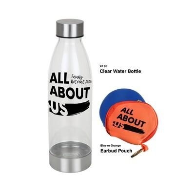 Water Bottle & Earbud Pouch