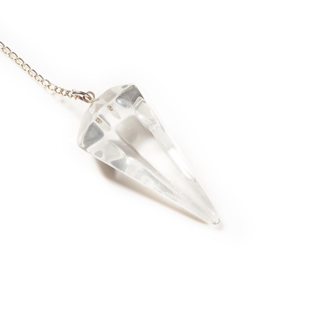 Clear Quartz Dowser Pendulum