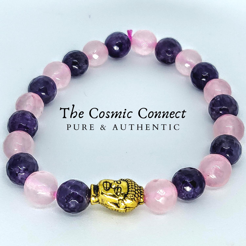 Amethyst+ Rose Quartz Bracelet