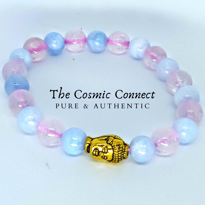 Rose Quartz + Aquamarine Bracelet