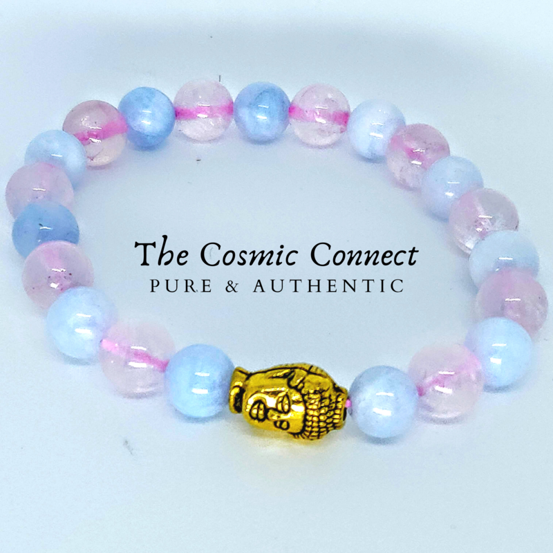 Rose Quartz + Aquamarine Bracelet