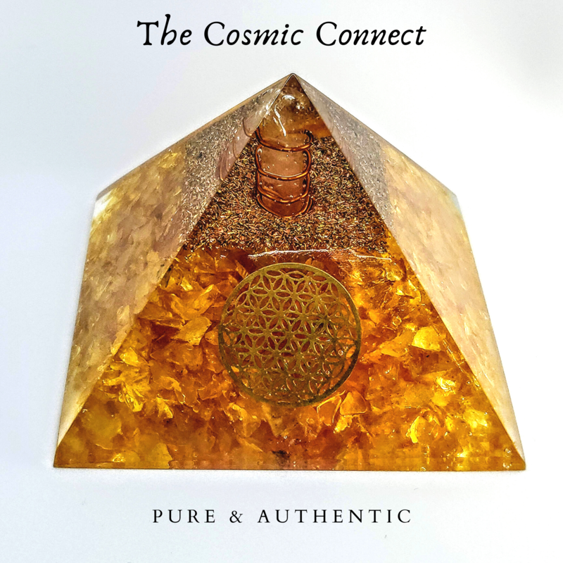Citrine Orgon Pyramid