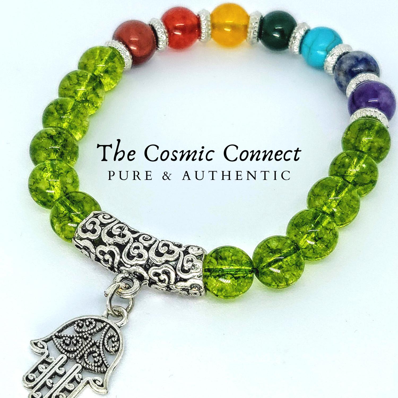 7 Chakra Peridot Bracelet