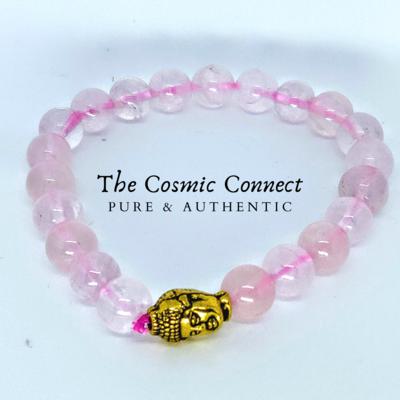 Rose Quartz Bracelet (with charm)