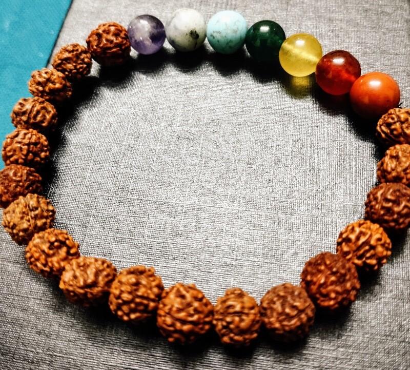 7 Chakra Rudraksh Bracelet